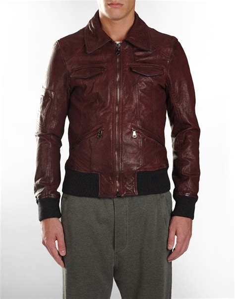 mens leather jacket d g s maroon leather jacket s fashion