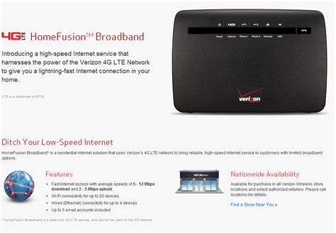 verizon to begin rolling out homefusion residential 4g lte
