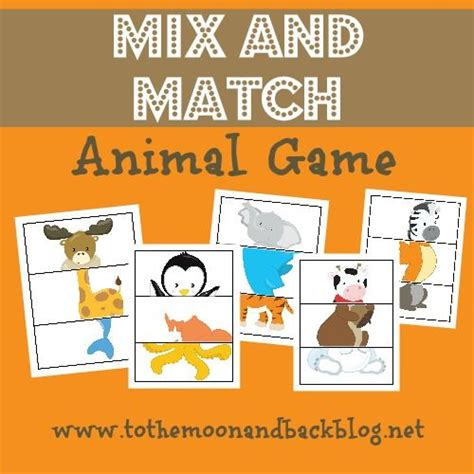 printable zoo animal matching game 362 best images about zoo theme on pinterest dear zoo