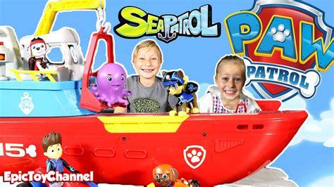 paw patrol boat toys paw patrol sea patroller boat toy sea patrol ryder and paw