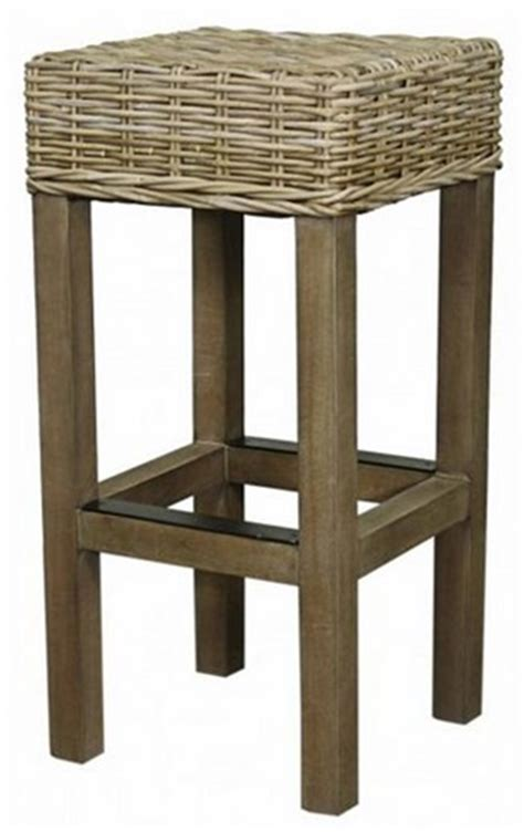 Rattan Backless Counter Stools by Kubu Rattan Backless Counter Stool