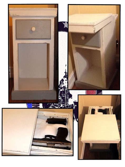 nightstand plans  hidden compartment woodworking