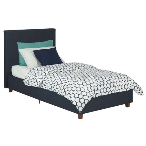 navy blue upholstered bed linen upholstered high back twin bed in navy blue 4076619
