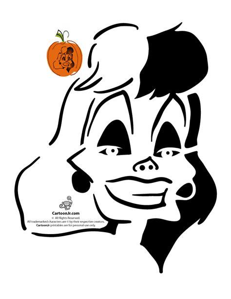 classic disney pumpkin stencils cruella de vil disney
