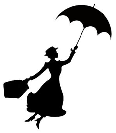 disney silhouettes, mary poppins and silhouette on pinterest