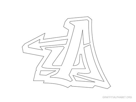 graffiti letter templates free fancy letters a z coloring pages