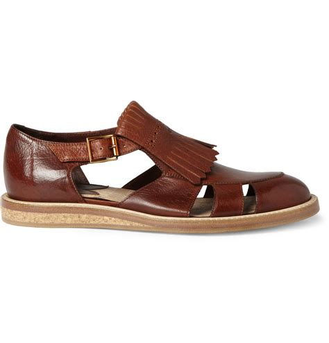 cool mens sandals paul smith men s fringed leather sandals cool s shoes