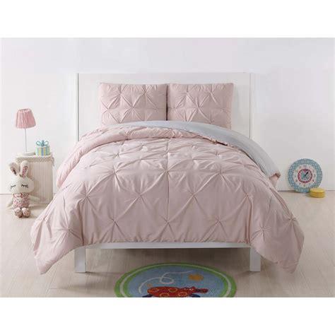 Blush Pink Comforter by Blush Pink Gray Pleated Comforter Set Shams