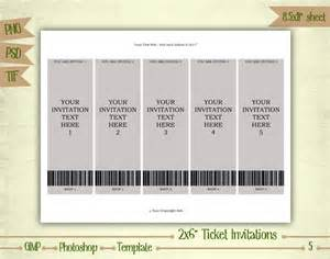 ticket invitation template ticket invitations digital collage sheet layered template