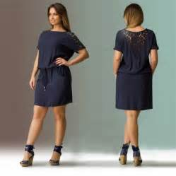 2016 navy summer dress plus size women clothing large size