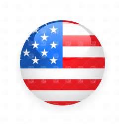 usa button flag vector image 1482 rfclipart