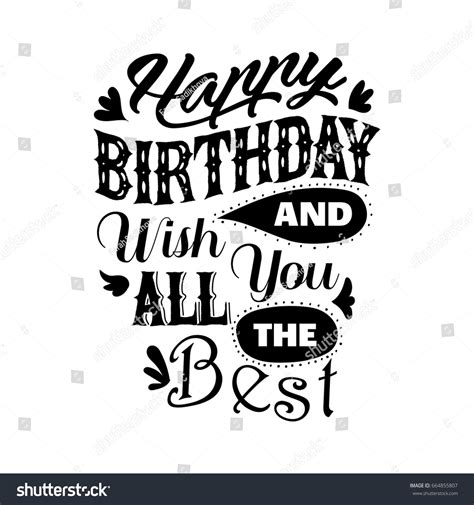 happy birthday wishes you all the best happy birthday wish you all best stock vector 664855807