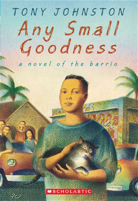 any will do a novel books any small goodness a novel of the barrio by tony johnston