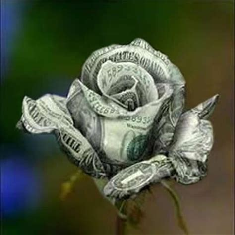 money origami flower folding dollar bill foto