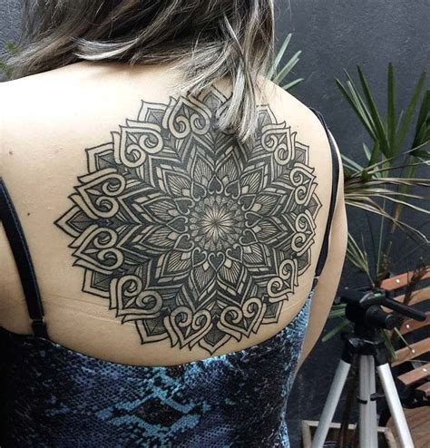 tattoo back large large mandala on girls back best tattoo design ideas