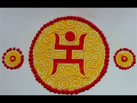 How To Make Paper Cutting Rangoli - easy swastik rangoli designs with paper cutting kolam