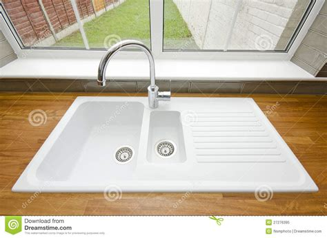 large white ceramic kitchen sink royalty free stock photo