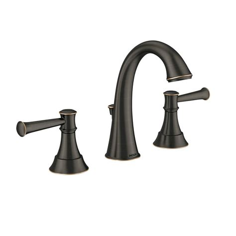 moen ashville bathroom faucet shop moen ashville mediterranean bronze microban 2 handle