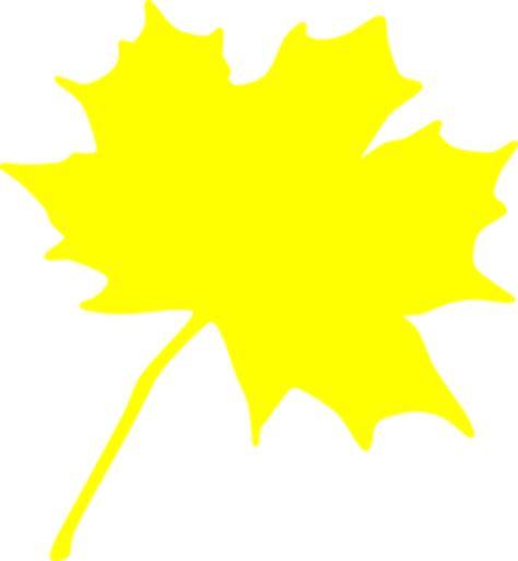 yellow leaf clip art at clker.com vector clip art online