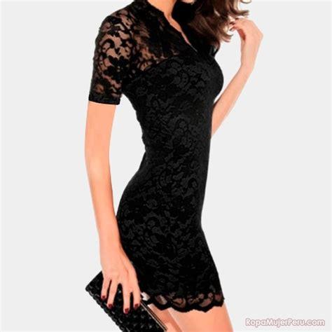vestido de encaje corto vestido encaje negro corto 01 ropa mujer per 250