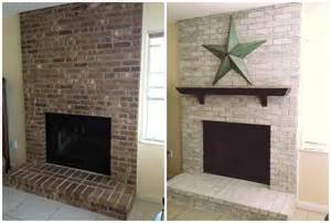 paint brick fireplace before after whitewash fireplace before and after studio design