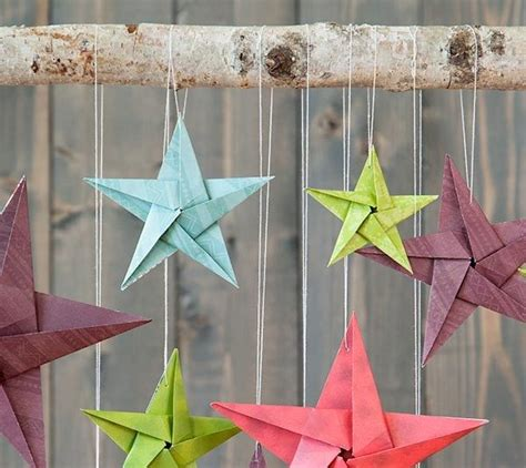 origami star hanging mobile wall art made with cricut