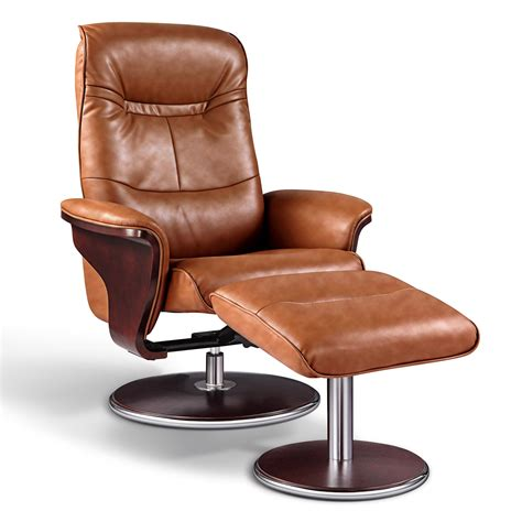 swivel recliner and ottoman artiva usa leather swivel recliner and ottoman