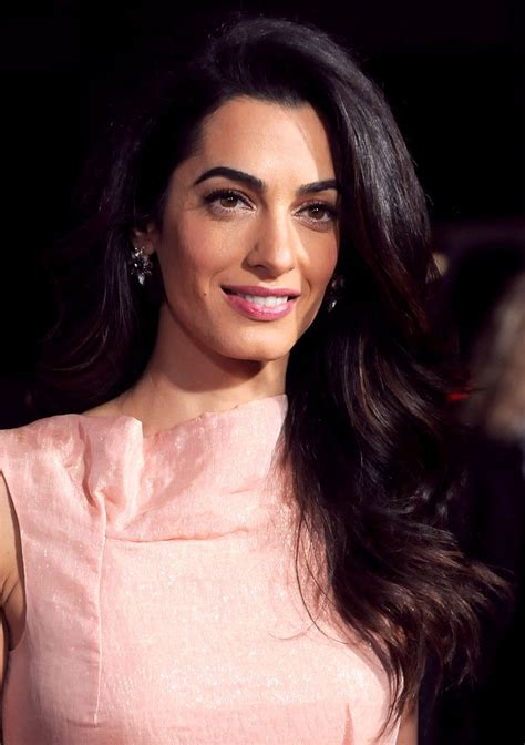 is amal clooney hair one length amal clooney hair and makeup popsugar beauty