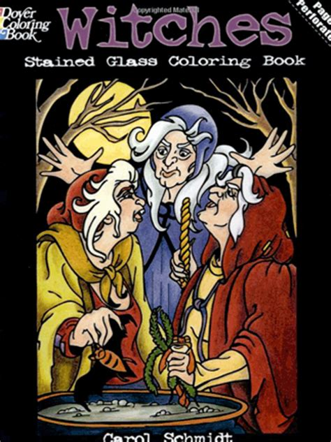 glass town books halloweentown store witches stained glass coloring book