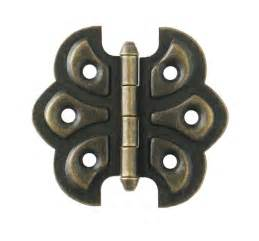 butterfly hinge pair antique brass finish