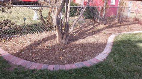 brick garden bed edging brick edging omaha landscaping