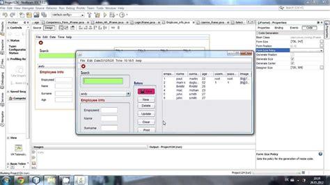 tutorial java netbeans jframe java prog 40 how to center a jframe on screen in netbeans