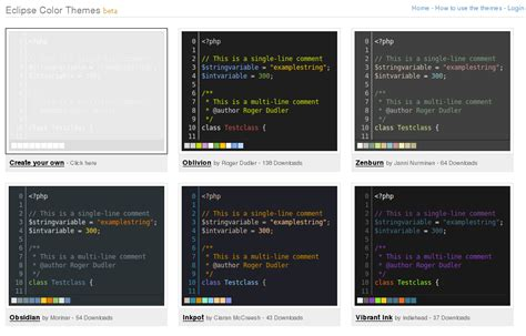eclipse themes import color themes for eclipse