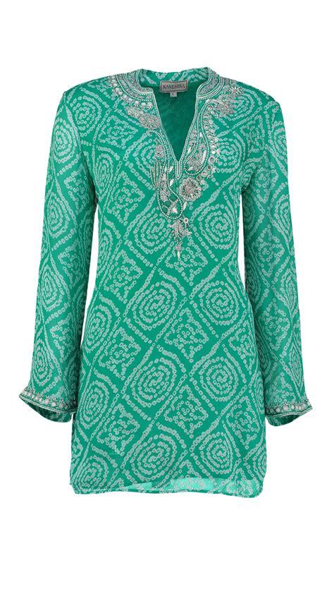 Kaftan Green kaminee rosalie bay silk kaftan green