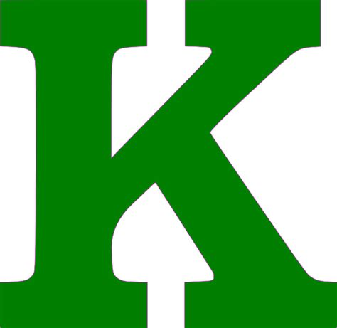 Letter Kc Single K Letter Green Clip At Clker Vector Clip Royalty Free Domain