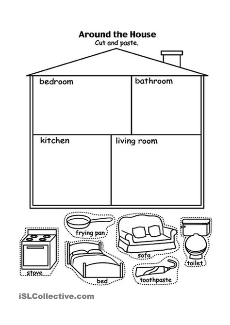 parts house printable exercises parts of the house house pinterest worksheets house