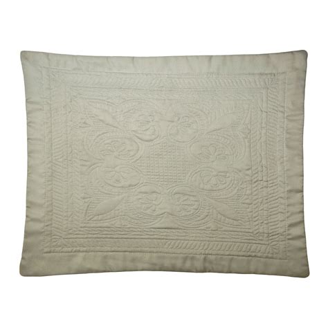 King Size Pillow Sham by American Traditions Tile Microfiber King Size