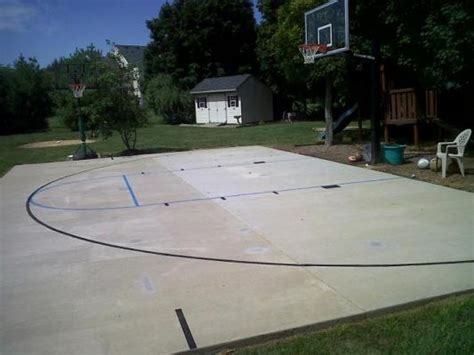 outdoor basketball court template basketball hoops company offers quot march madness quot special