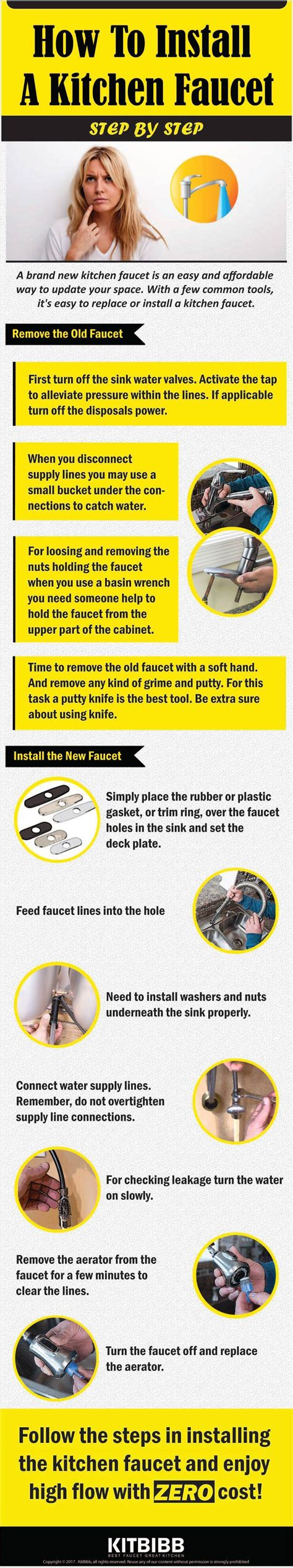 how to install a kitchen faucet remove the one