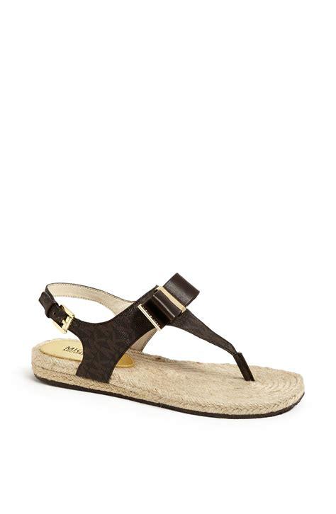michael kors meg sandals michael michael kors meg sandal in brown lyst