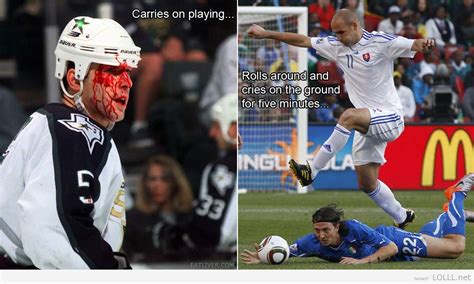 Soccer Hockey Meme - hockey v s soccer funny pinterest hockey and soccer