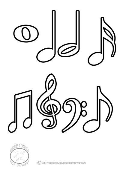 imagenes musicales notas imagenes de dibujos de las notas musicales para imprimir y