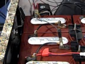 charging dead golf cart batteries youtube