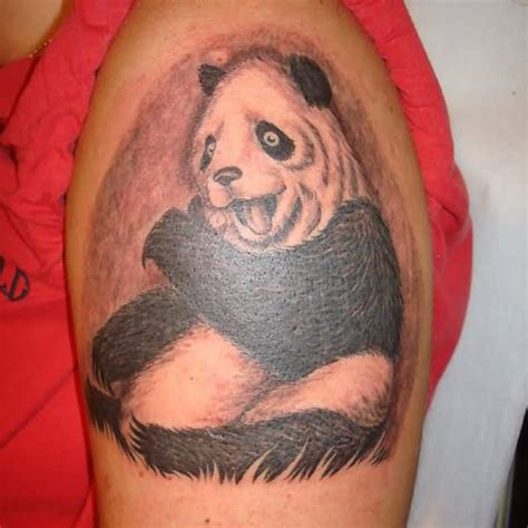 panda tattoo half sleeve 29 tribal panda tattoo designs and pictures