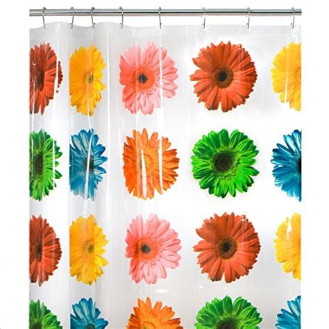 gerber daisy shower curtain maytex photoreal gerber daisy waterproof peva shower