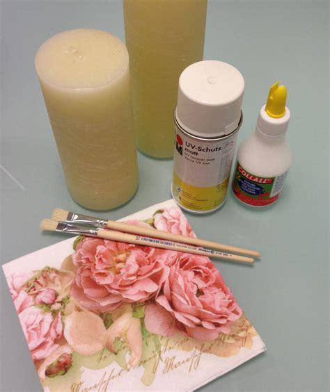 Decoupage Recipe - decoupage on a candle viviane freitas