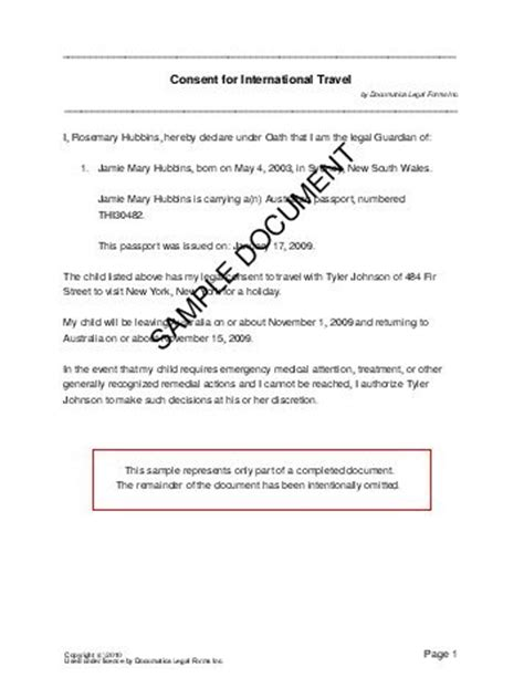 Parental Consent Letter For Work Philippines Child Travel Consent Australia Templates