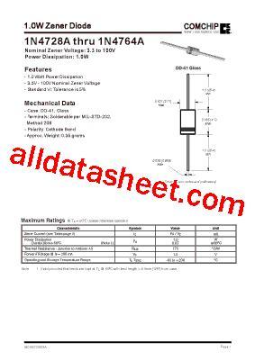 c27ph zener diode datasheet 1n4743a datasheet pdf comchip technology