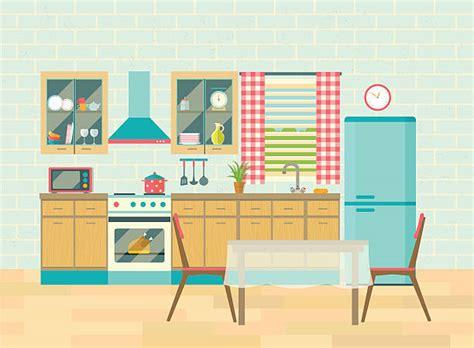 kitchen illustrations royalty  vector graphics