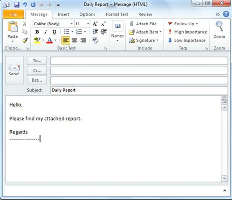 Outlook 2010 Productivity Tip: Create Canned Email Messages